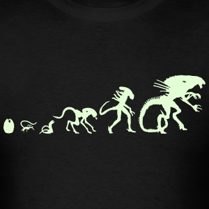 Glowing Alien Evolution - Men's T-Shirt