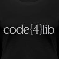 Design ~ Women's Code4Lib Premium T-Shirt