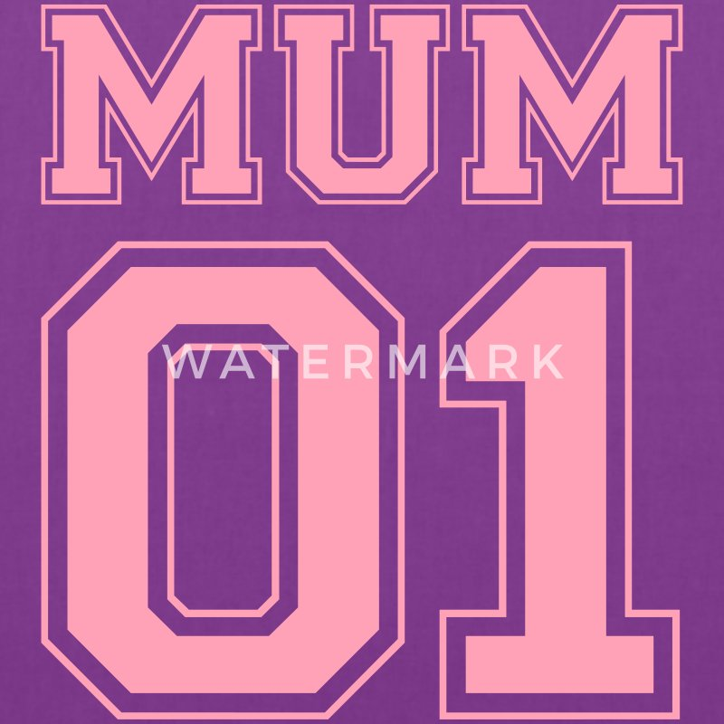 Mum number 01 Bags & backpacks - Tote Bag