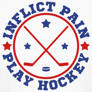 Inflict Pain, Play Hockey Kids' Shirts - Kids' Long Sleeve T-Shirt