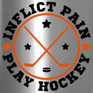 Inflict Pain, Play Hockey Bottles & Mugs - Travel Mug