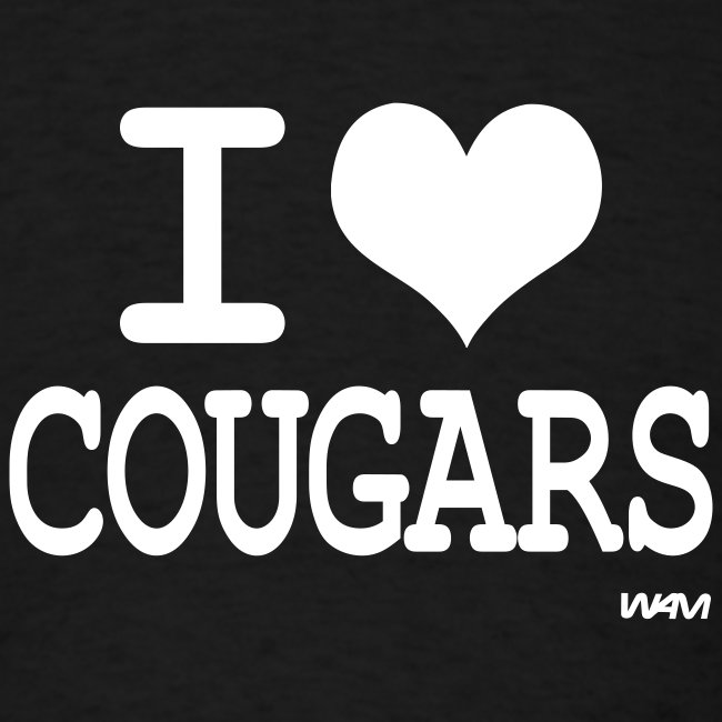 I heart cougars men's t-shirt