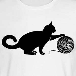 Cat play the Wool Long Sleeve Shirts - Men's Long Sleeve T-Shirt