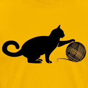 Cat play the Wool T-Shirts - Men's Premium T-Shirt