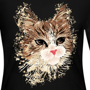 Artistic Cat Long Sleeve Shirts - Women's Long Sleeve Jersey T-Shirt