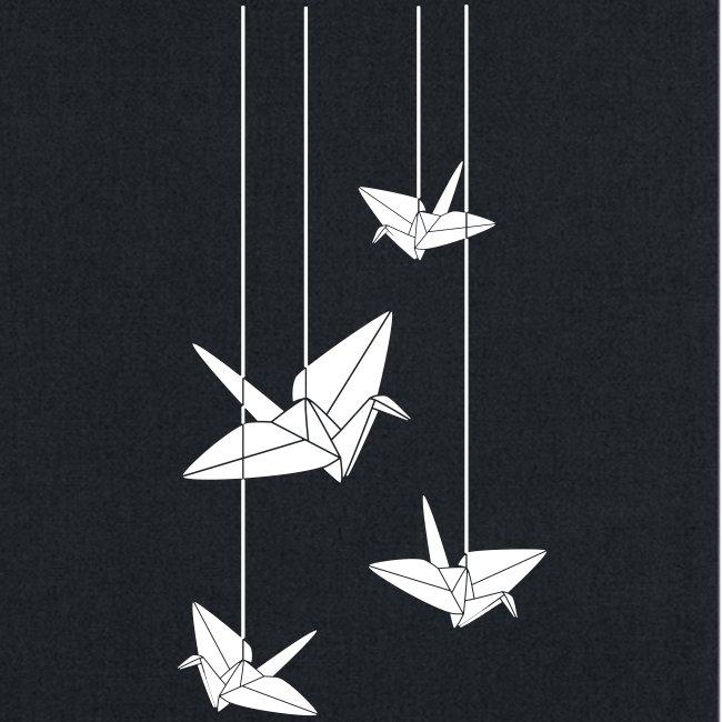Paper Kawaii Hanging Origami Cranes Tote Bag
