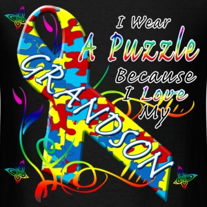 Puzzle For My Grandson T-Shirts - Men's T-Shirt