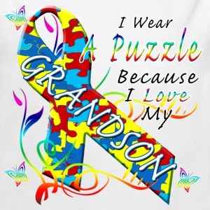 Puzzle For My Grandson Baby & Toddler Shirts - Long Sleeve Baby Bodysuit