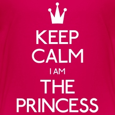 keep calm princess Kids' Shirts