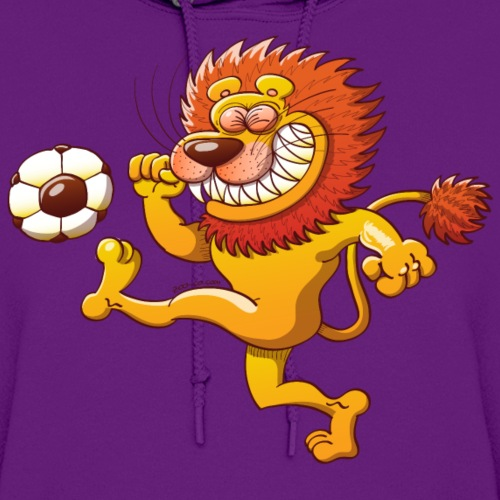Brave Lion Kicking a Soccer Ball