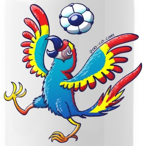Nice Macaw Bouncing a Soccer Ball on his Head Bottles & Mugs - Water Bottle
