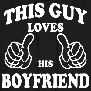 this guy loves his boyfriend Hoodies - Men's Hoodie
