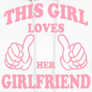 this girl loves her girlfriend Hoodies - Women's Hoodie