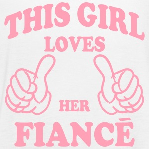 this girl loves her fiance Tanks - Women's Flowy Tank Top by Bella