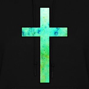 Galaxy Cross Green - Women's Hoodie