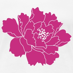 Peony Flower Vector Women's T-Shirts