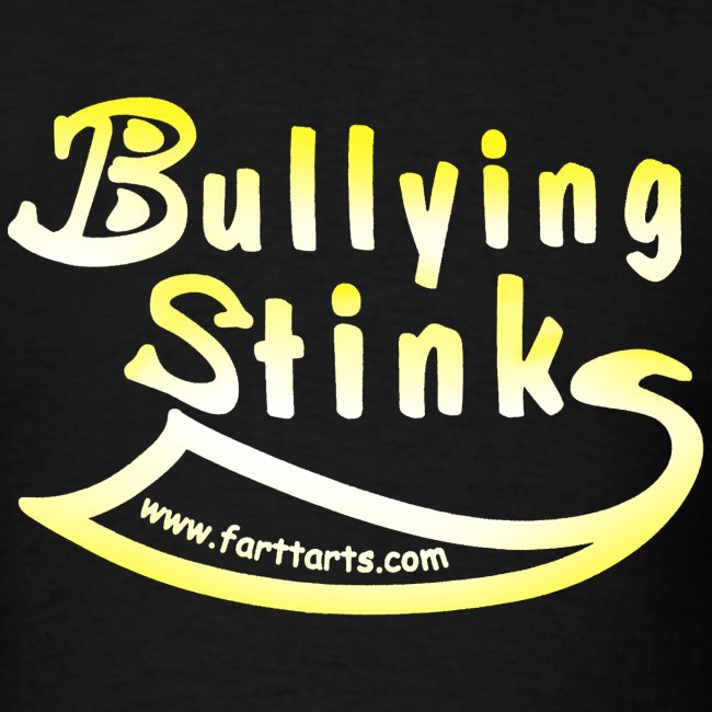 Men's Bullying Stinks, colored text