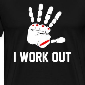 I Work Out T-Shirts - Men's Premium T-Shirt