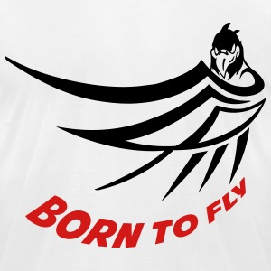 born to fly (try 1 color) T-Shirts - Men's T-Shirt by American Apparel