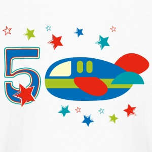 5th Birthday Airplane Kids' Shirts - Kids' Long Sleeve T-Shirt