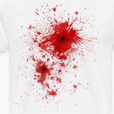 Blood spatter / bullet wound - Costume  T-Shirts