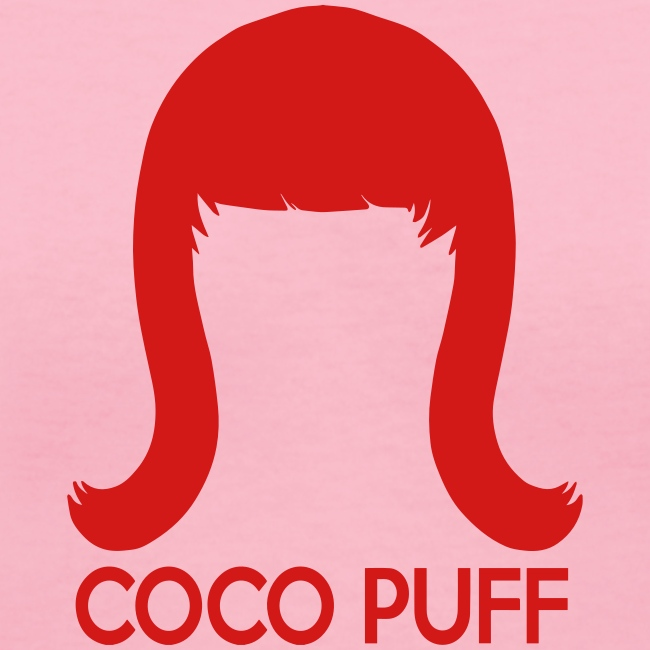 Coco Puff Logo - Women's V-Neck T-Shirt