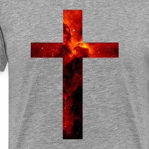 Red Galaxy Cross T-Shirts - Men's Premium T-Shirt