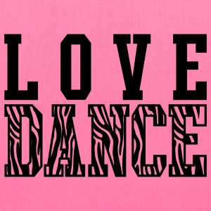 Love Dance Zebra Bags & backpacks - Tote Bag