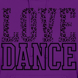 Love Dance Cheetah Print Black Hoodies - Women's Hoodie