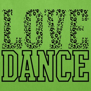 Love Dance Cheetah Print Black Bags & backpacks - Tote Bag