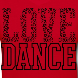 Love Dance Cheetah Print Black Women's T-Shirts - Women's V-Neck T-Shirt