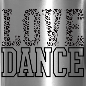 Love Dance Cheetah Print Black Bottles & Mugs - Travel Mug