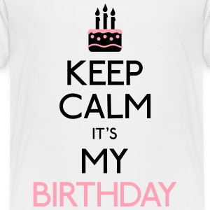 keep calm birthday Kids' Shirts - Kids' Premium T-Shirt