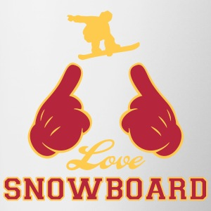 Love Snowboard Bottles & Mugs - Contrast Coffee Mug