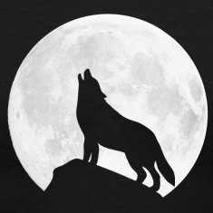 Howling Wolf - Moon Women's T-Shirts