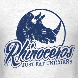 rhinoceros_just_fat_unicorns T-Shirts - Men's T-Shirt