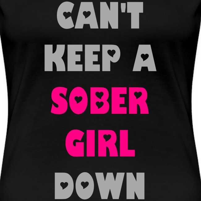 Can't Keep A Sober Girl Down Silver Glitter-T