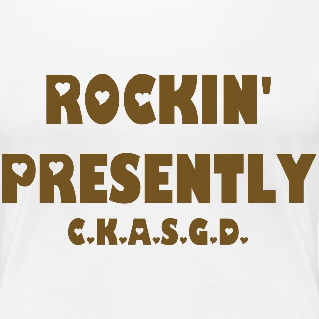 Can't Keep A Sober Girl Down Rockin' Presently Gold Glitter-T
