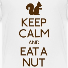 keep calm squirrel  Kids' Shirts