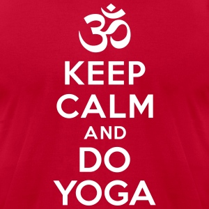 Keep calm and do yoga T-Shirts - Men's T-Shirt by American Apparel