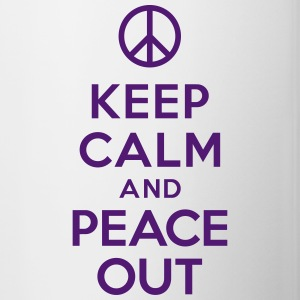 Keep calm and peace out Bottles & Mugs - Contrast Coffee Mug