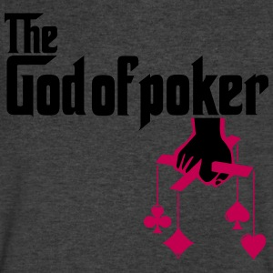 THE GOD OF POKER T-Shirts - Men's V-Neck T-Shirt by Canvas