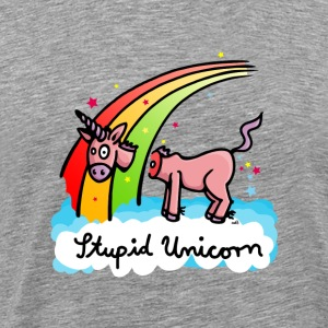 The stupid unicorn loses his head T-Shirts - Men's Premium T-Shirt
