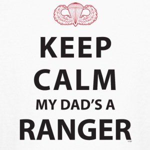 KEEP CALM MY DAD'S A RANGER - Kids' Long Sleeve T-Shirt