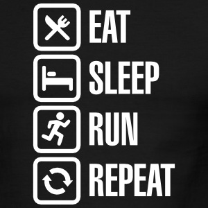 Eat sleep run repeat T-Shirts - Men's Ringer T-Shirt