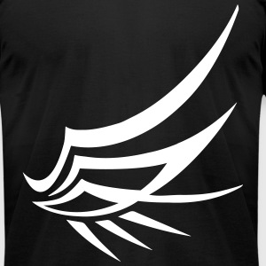 wing tribal (try 1 color) T-Shirts - Men's T-Shirt by American Apparel