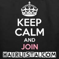 Design ~ Keep Calm Hairlista Tote - White