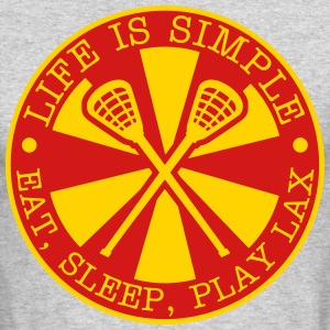 Eat, Sleep, Play LAX Long Sleeve Shirts - Men's Long Sleeve T-Shirt by Next Level