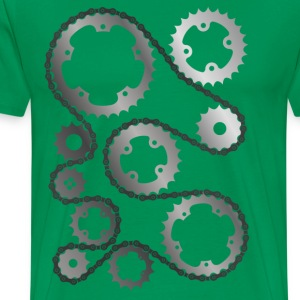 Gears with chain Shirt - Men's Premium T-Shirt