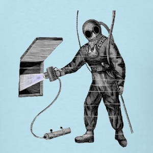 Vintage Diver with Underwater Lamp T-Shirts - Men's T-Shirt